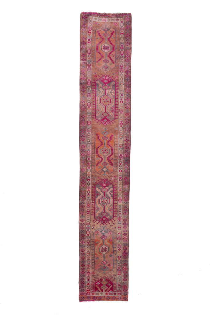 "'Mimosa' Vintage Turkish Ombré Runner - 2'8"" x 14'8"" - Canary Lane - Curated Textiles"