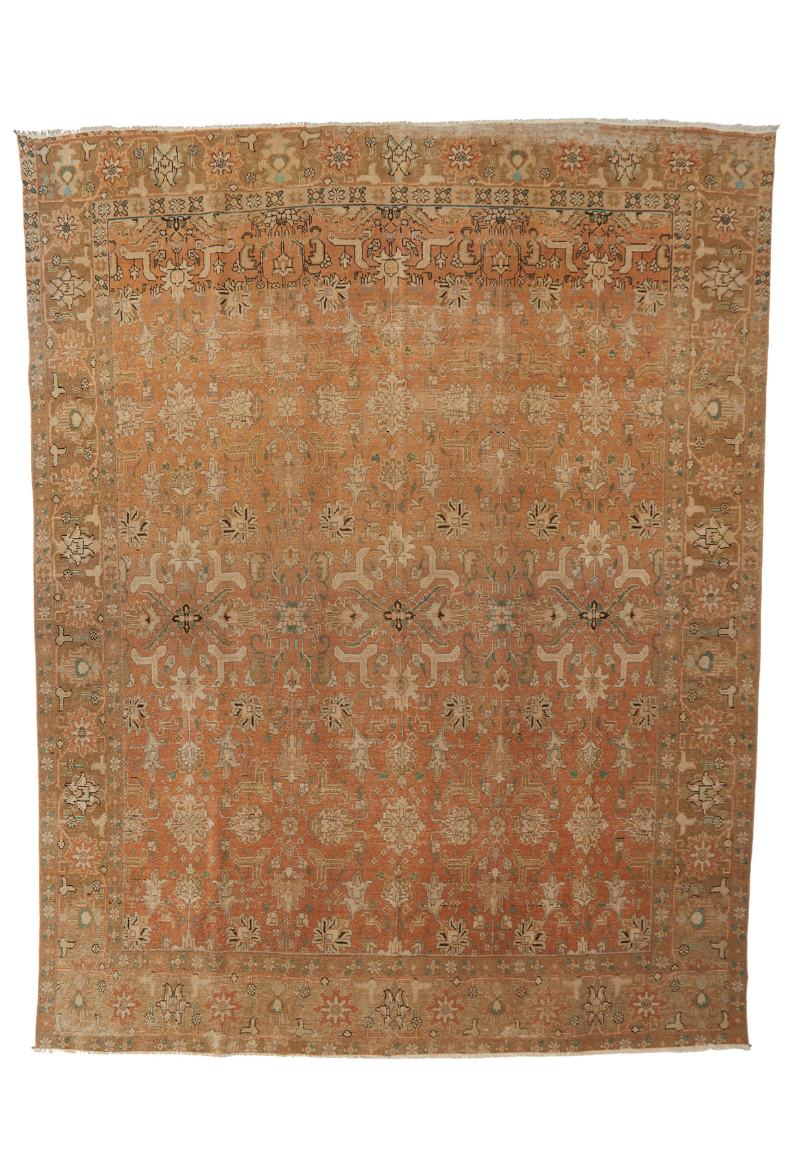"'Daffodil' Turkish Vintage Area Rug - 9'8"" x 12'5"" - Canary Lane - Curated Textiles"