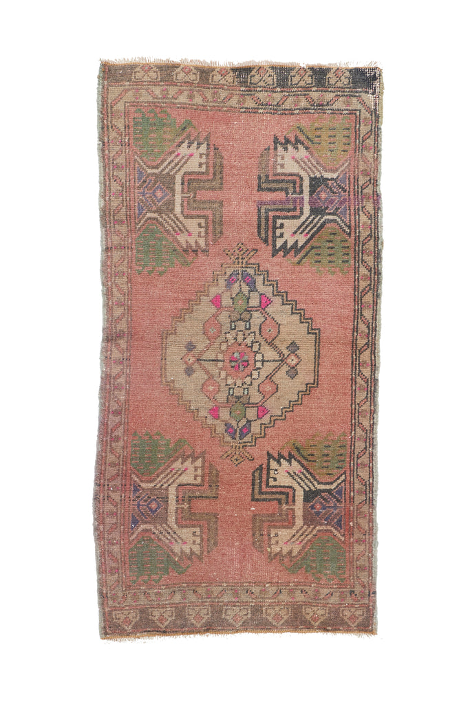 No. 1123 Mini Rug - 1'8'' x 3'5'' - Canary Lane - Curated Textiles