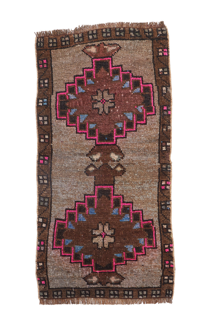 No. 1126 Mini Rug - 1'6'' x 3'2'' - Canary Lane - Curated Textiles