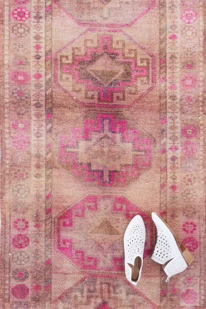 'Mimosa' Turkish Ombré Runner Rug - 2'11'' x 12'6'' - Canary Lane - Curated Textiles