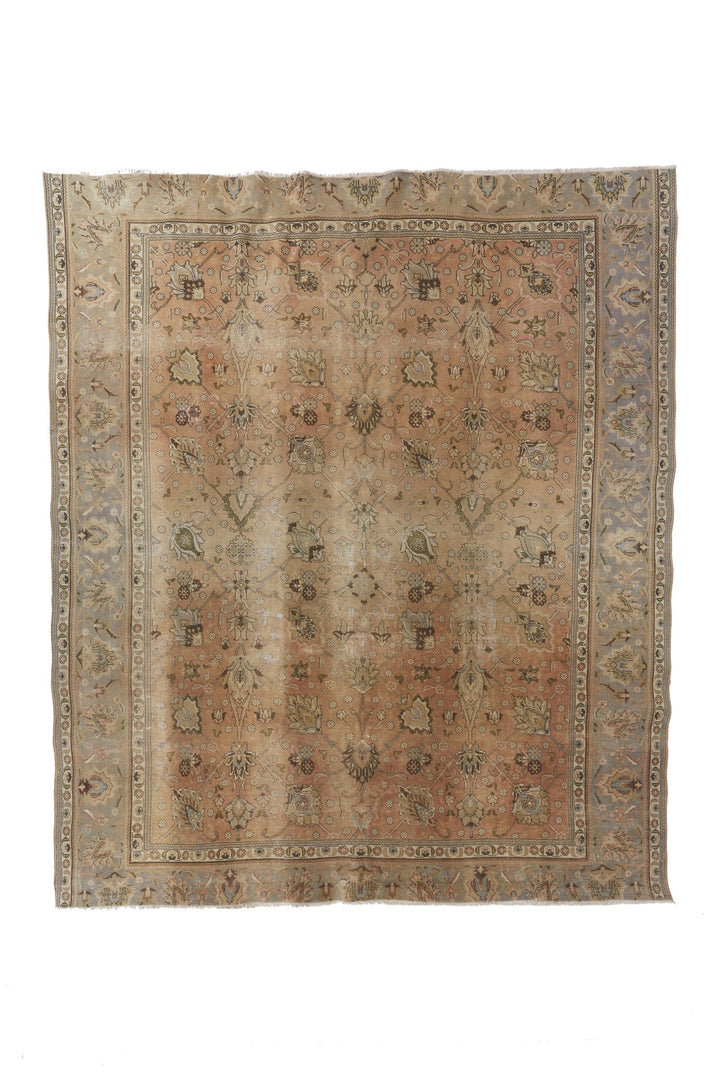 "'Forsythia' Turkish Vintage Area Rug - 9'7"" x 11' - Canary Lane - Curated Textiles"