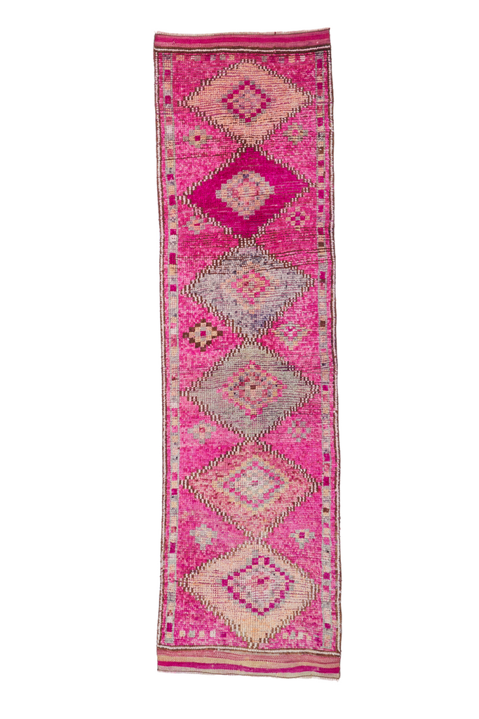 "'Peony' Vintage Turkish Runner - 2'9'' x 9'11"" - Canary Lane - Curated Textiles"