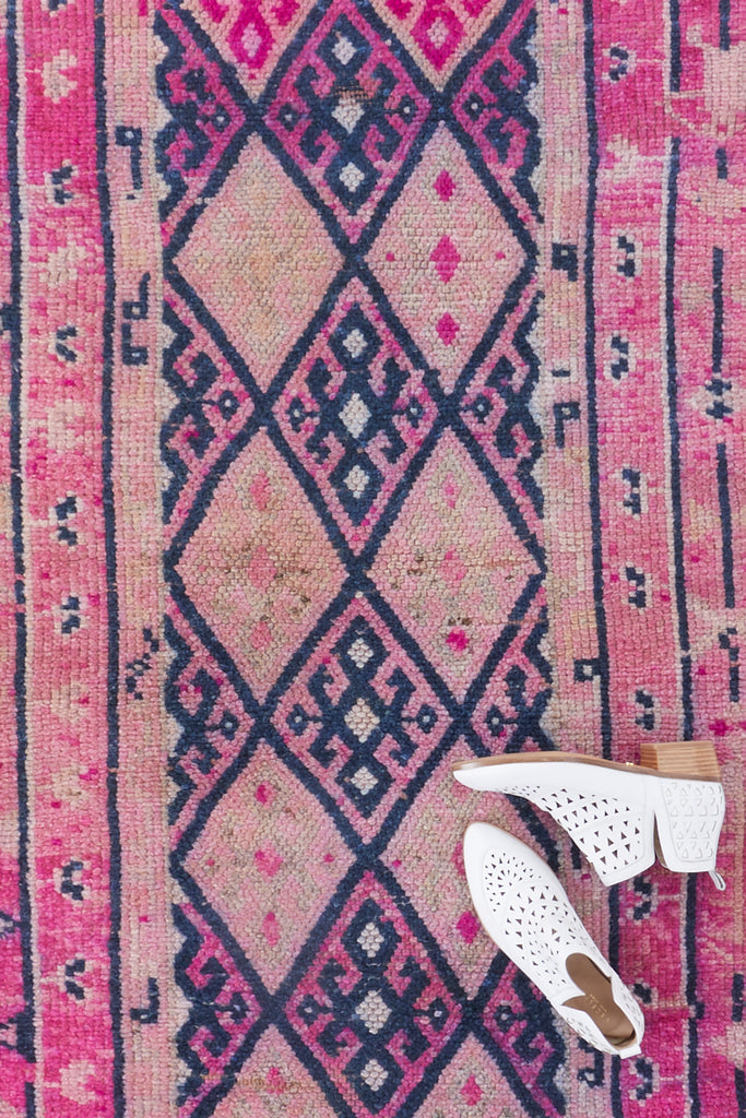 'Carnival' Turkish Runner Rug - 2'9'' x 10'6'' - Canary Lane - Curated Textiles