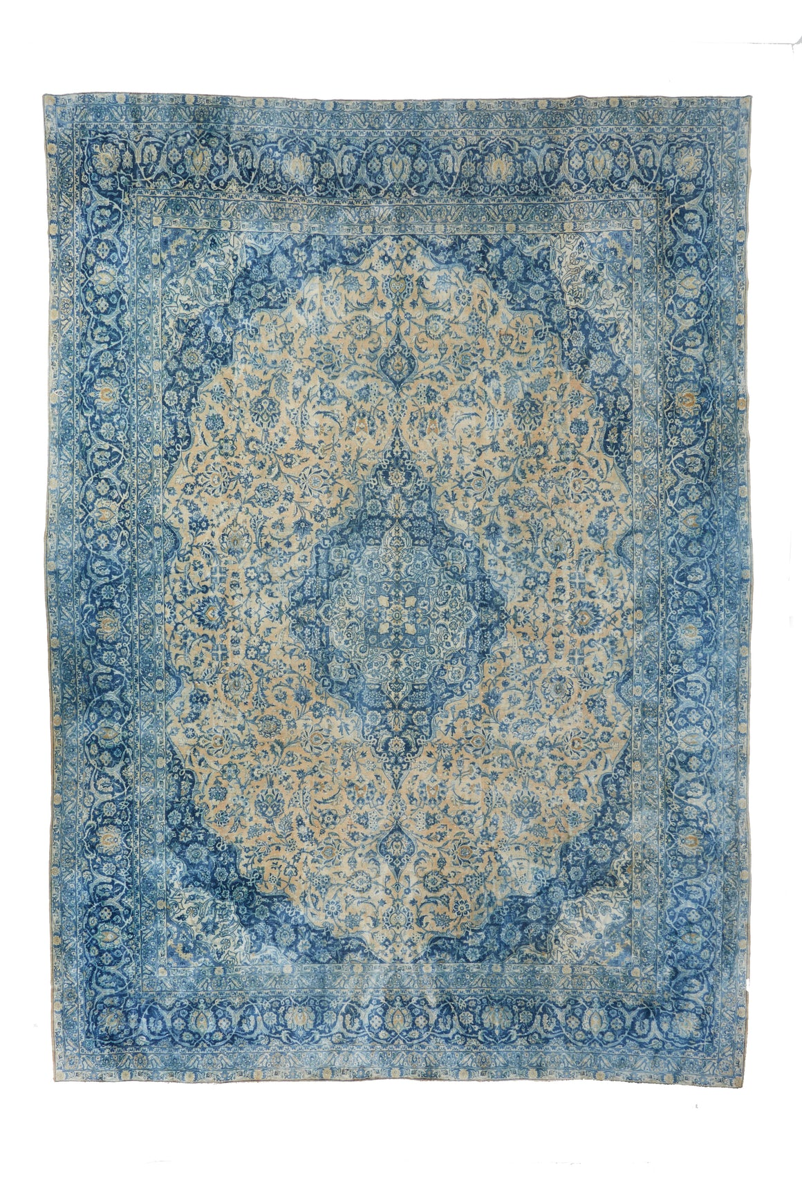 "'Geranium' Palace-Sized Antique Area Rug - 10'6"" x 15' - Canary Lane - Curated Textiles"