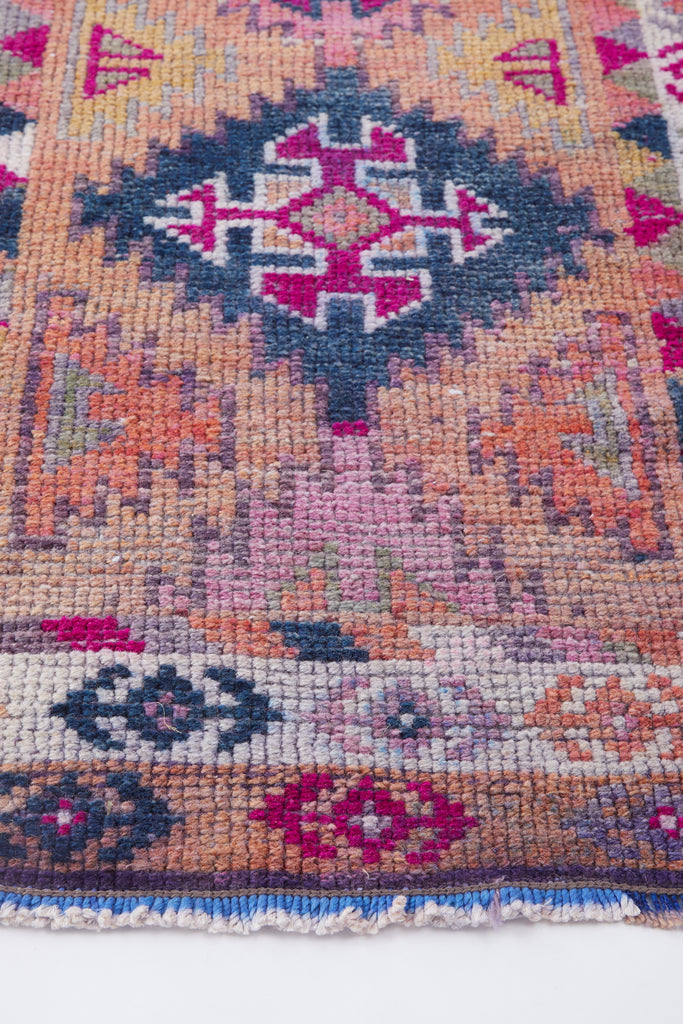'Paloma' Turkish Runner Rug - 2'7'' x 13' - Canary Lane - Curated Textiles