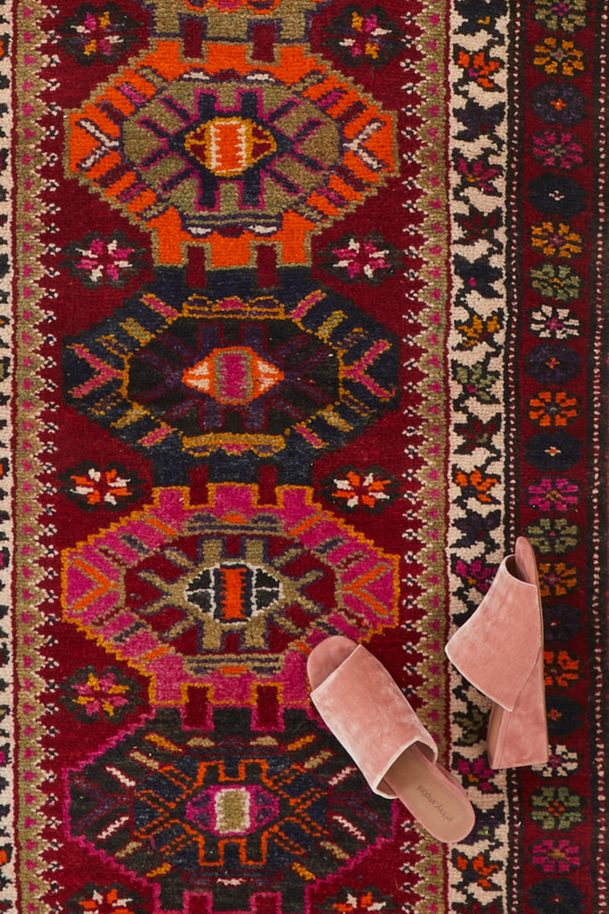 'Clementine' Vintage Turkish Runner - 2'11'' x 14'5''