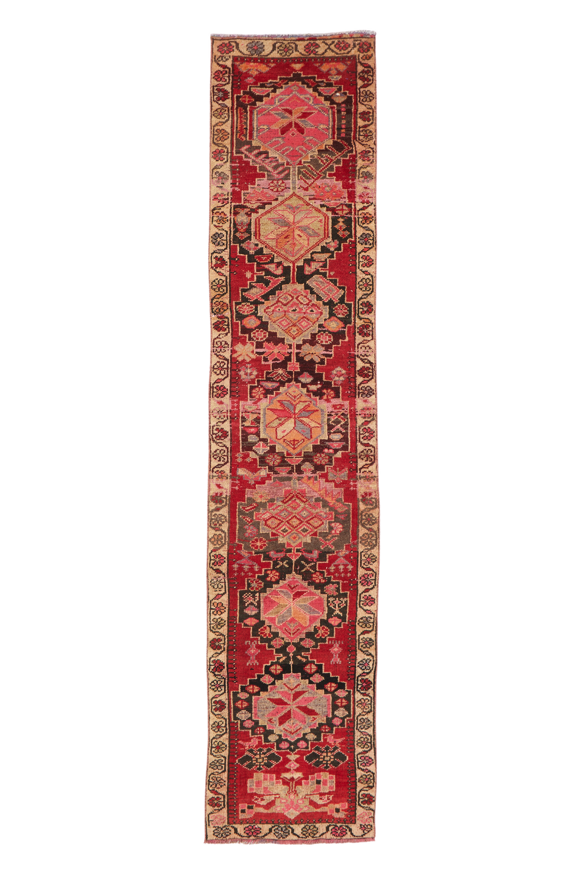 "'Seville' Turkish Vintage Runner Rug - 2'3.5"" x 11'11"""