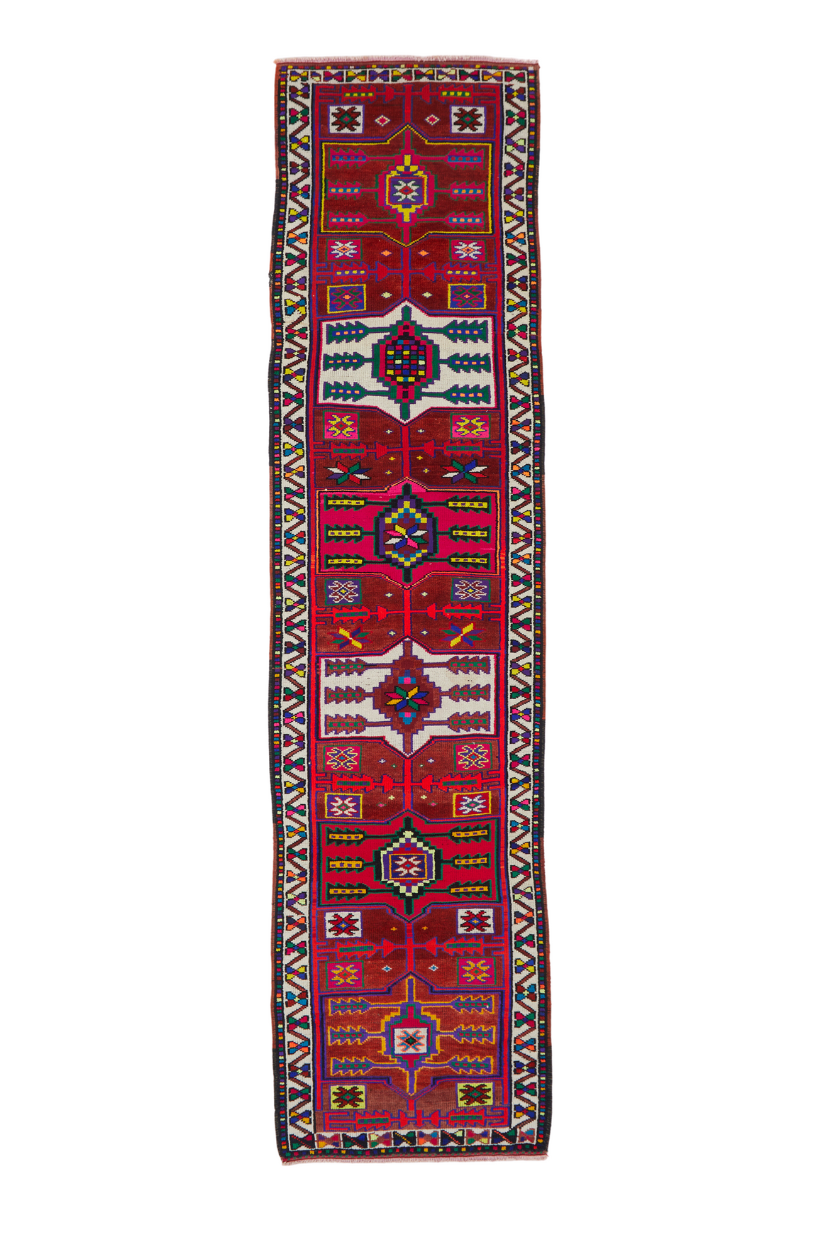 'Theo' Vintage Turkish Runner- 3' x 11'10''