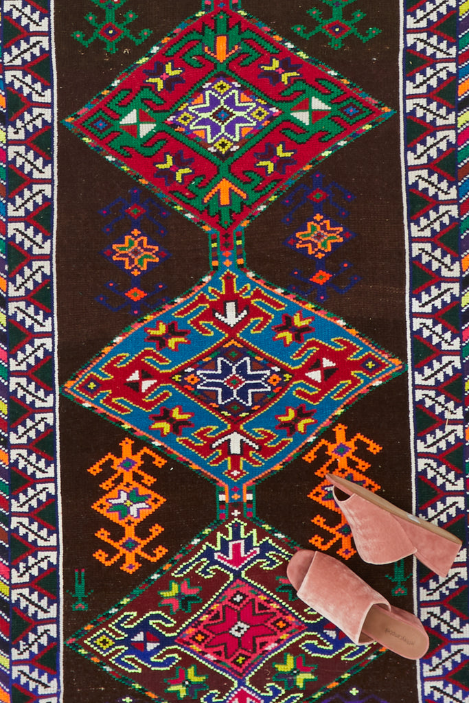 'Pepper' Vintage Turkish Runner - 2'9.5'' x 11'