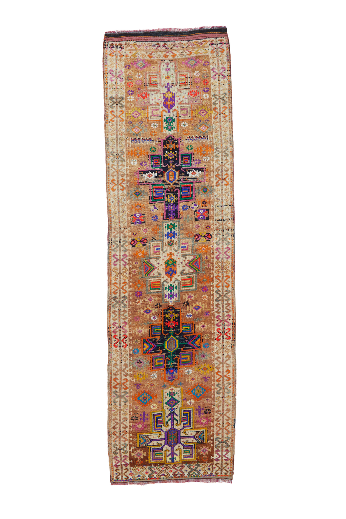 "'Lottie' Vintage Turkish Runner Rug - 3'3"" x 11'5"""
