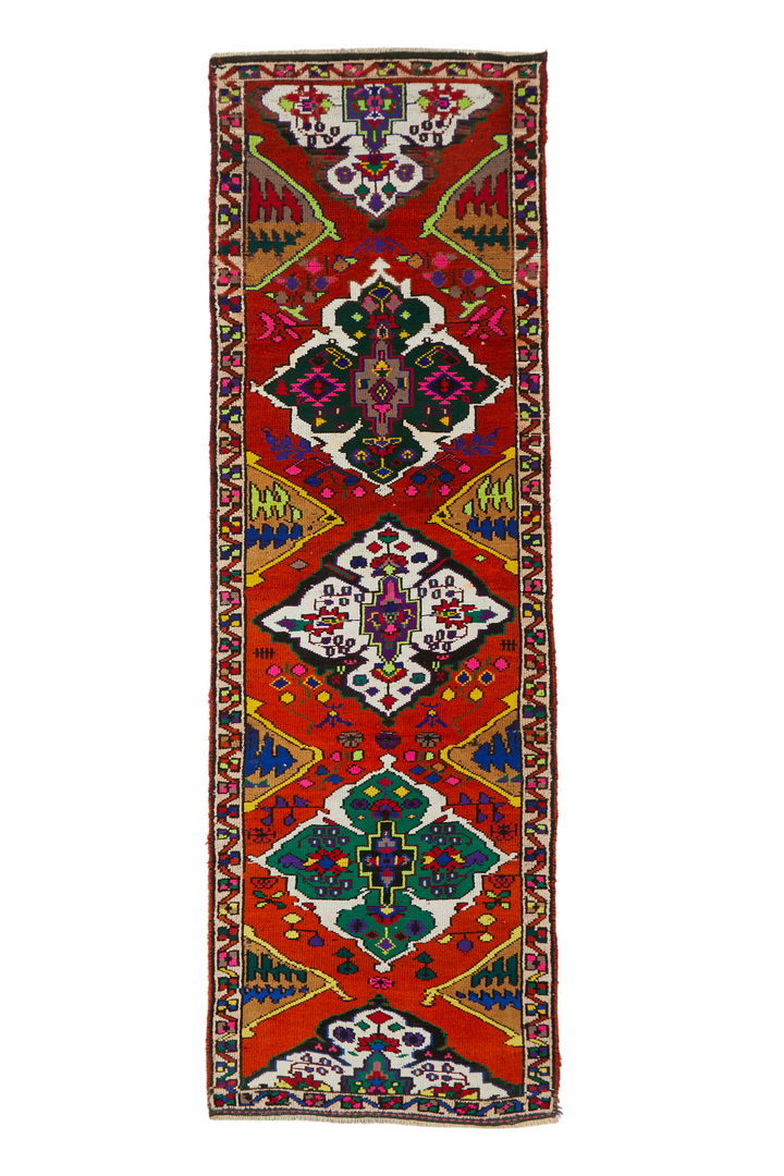 "'Susie' Vintage Turkish Runner- 3'1.5"" x 9'11"""