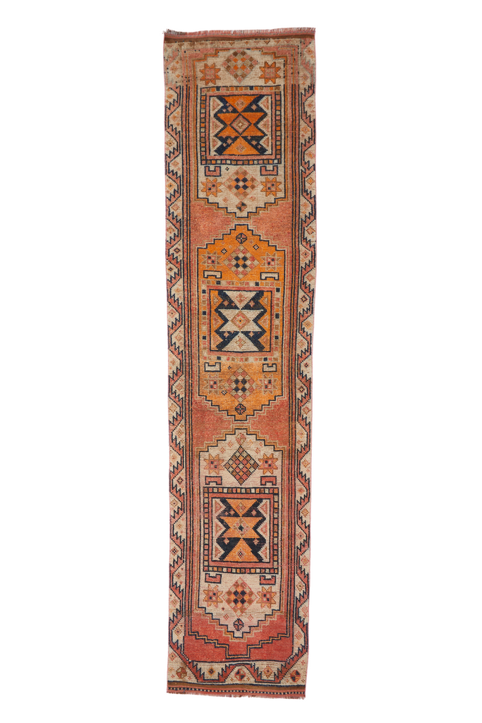 'Santa Fe' Vintage Turkish Runner - 2'9'' x 12'3""