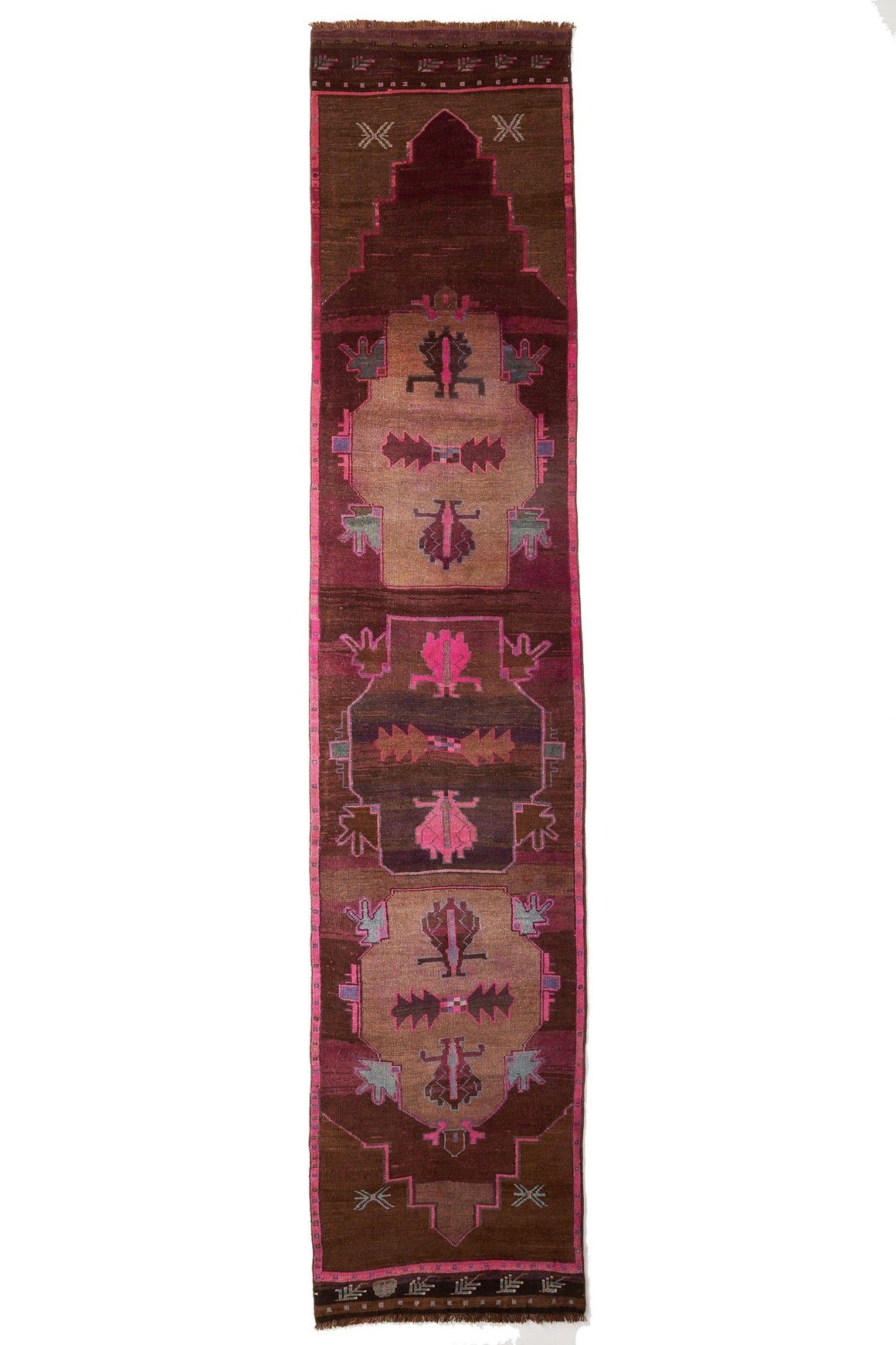 'Violet' Turkish Vintage Long Runner- 3'3'' x 15'3'' - Canary Lane - Curated Textiles