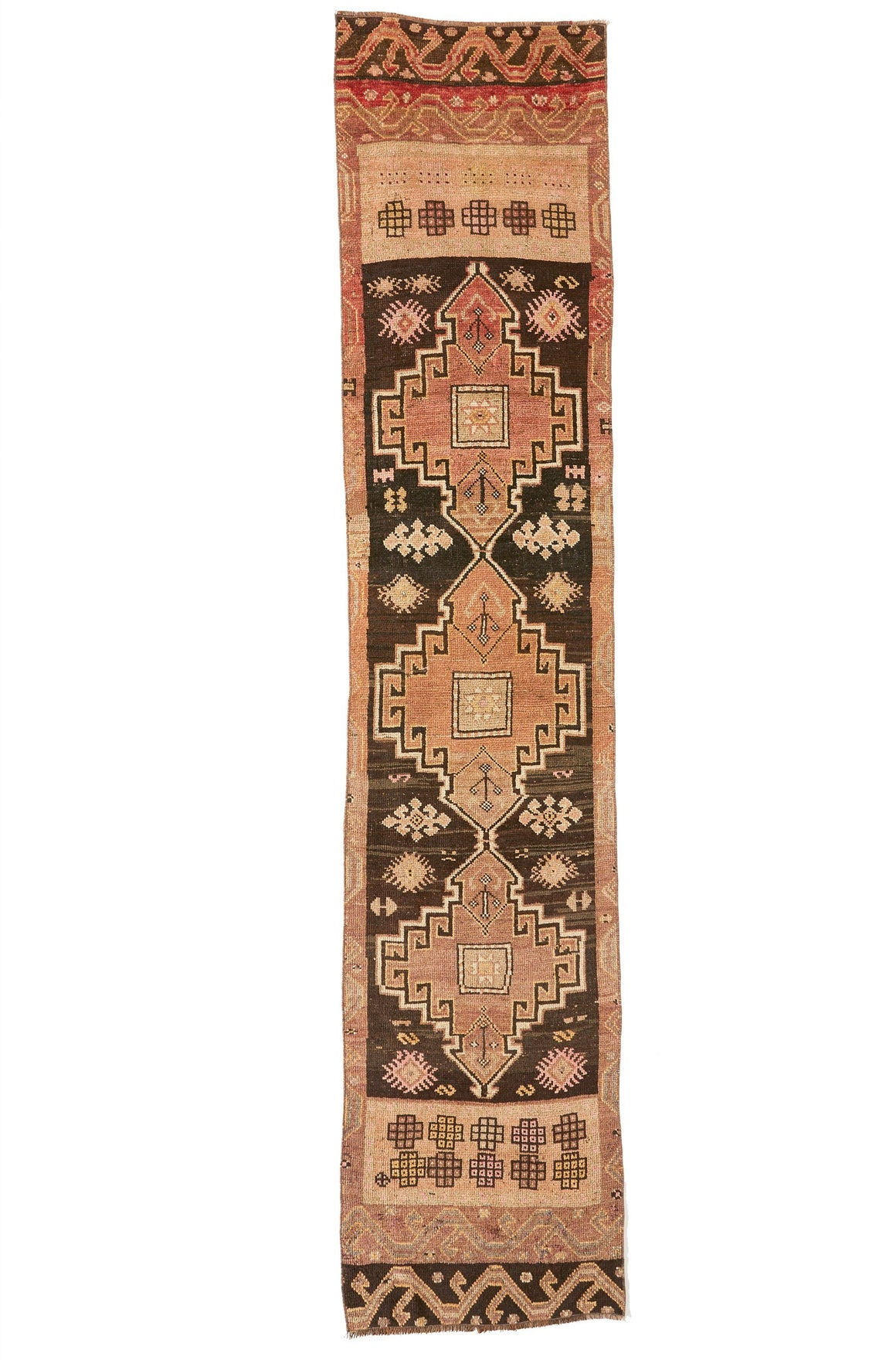 'RR-0618-440' Turkish Vintage Runner - 2'3.5'' x 10'6'' - Canary Lane - Curated Textiles