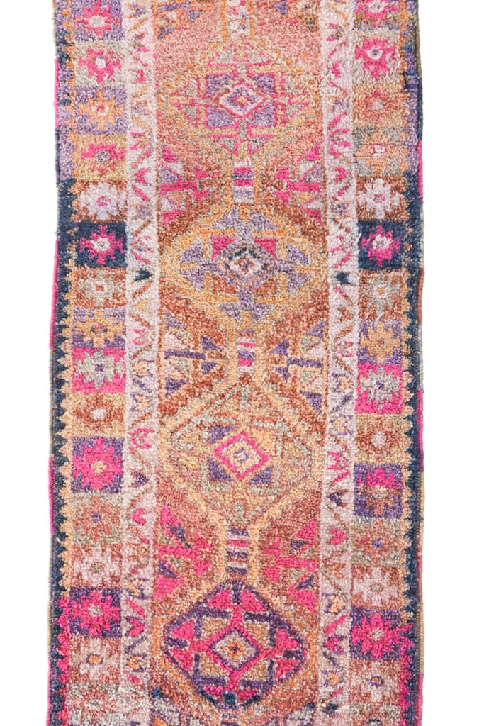 'Fairy Dust' Turkish Vintage Rug - 2'9'' x 10'1'' - Canary Lane - Curated Textiles