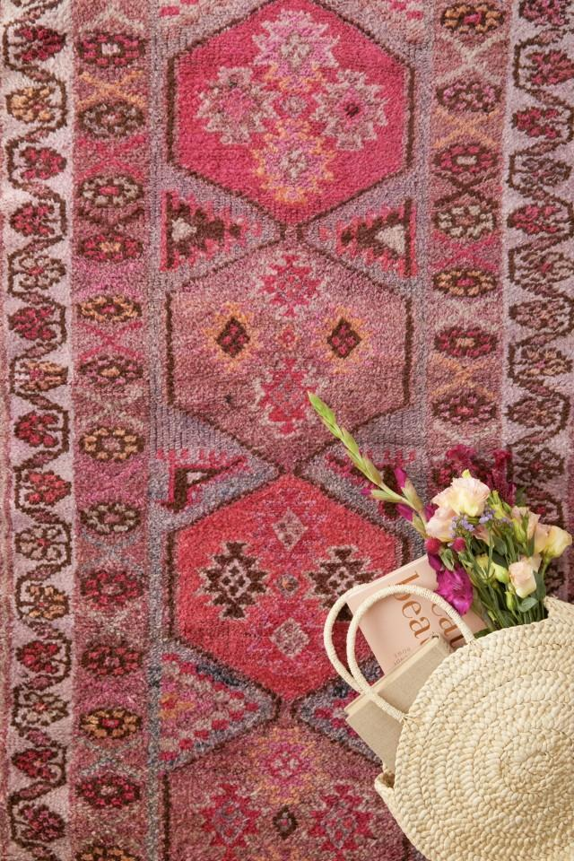 'Wildflower' Turkish Vintage Runner - 3' x 12'7'' - Canary Lane - Curated Textiles