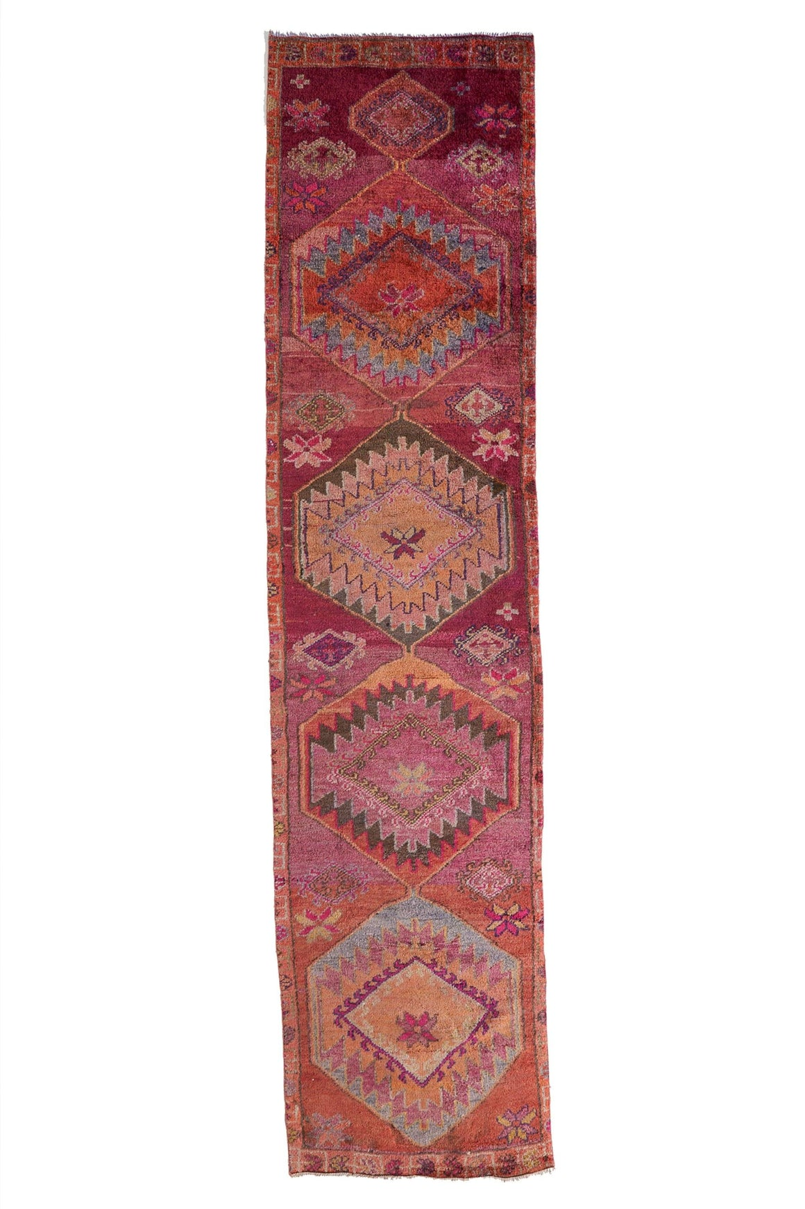 'Delight' Turkish Vintage Runner Rug - 2'11'' x 12'3'' - Canary Lane - Curated Textiles