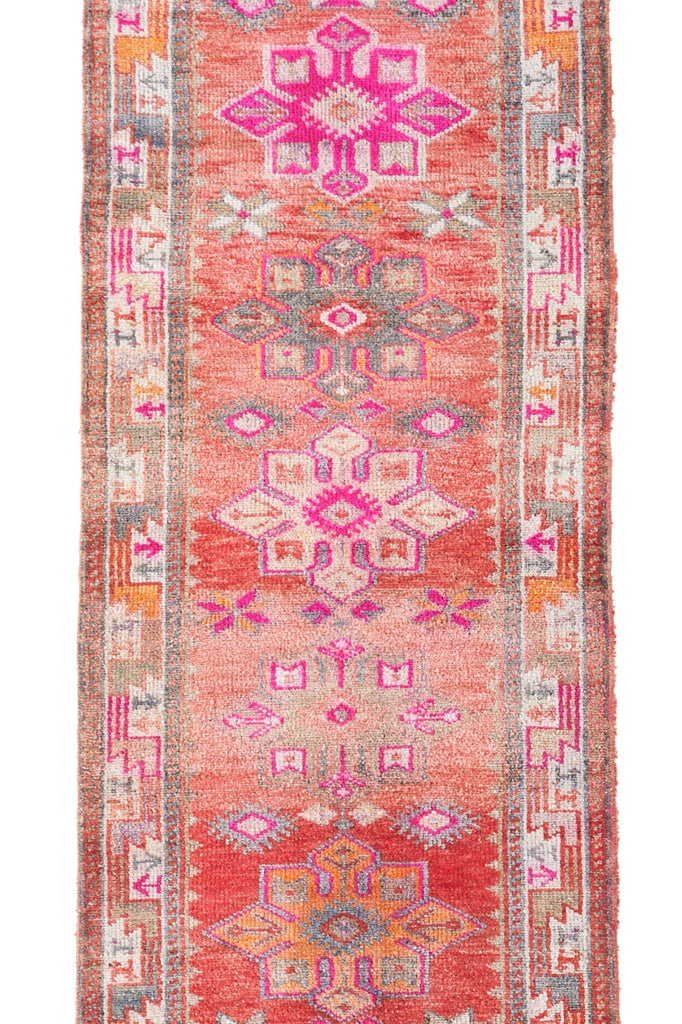 'Ambrosia' Turkish Vintage Runner - 2'11.5'' x 12'5'' - Canary Lane - Curated Textiles