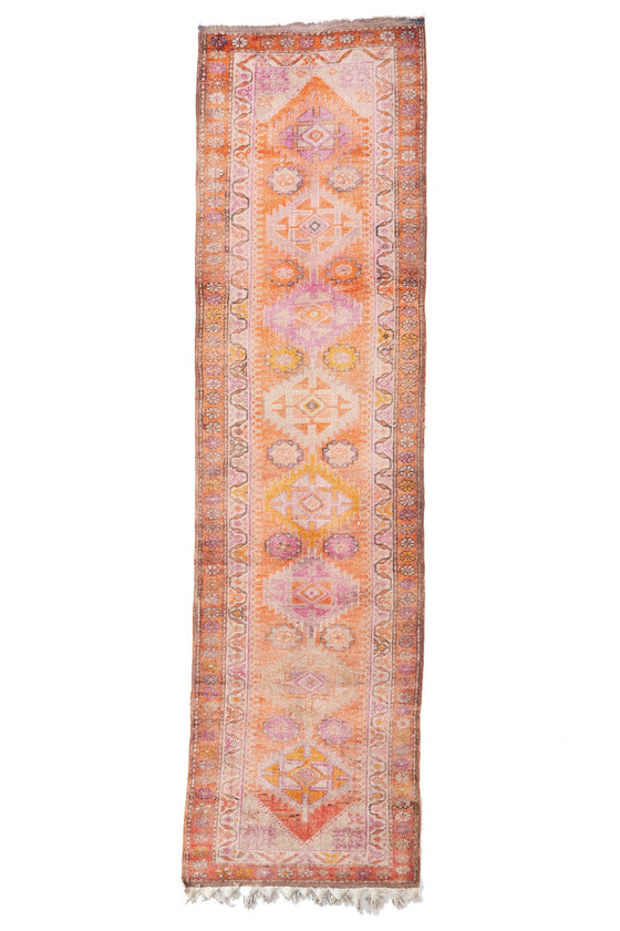 'Anne Bonny' Turkish Runner Rug - 2'10'' x 10'8'' (ON HOLD) - Canary Lane - Curated Textiles