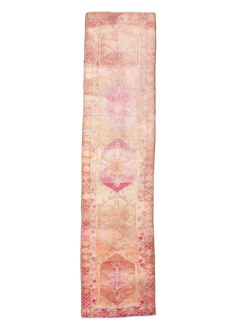 'Dreamscape' Turkish Ombré Runner Rug - 3' x 12'4'' - Canary Lane - Curated Textiles