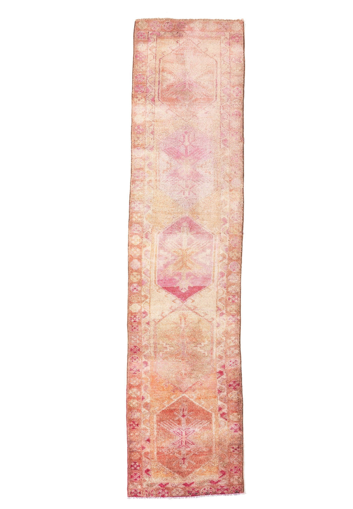 'Dreamscape' Turkish Runner Rug - 3' x 12'4'' - Canary Lane - Curated Textiles