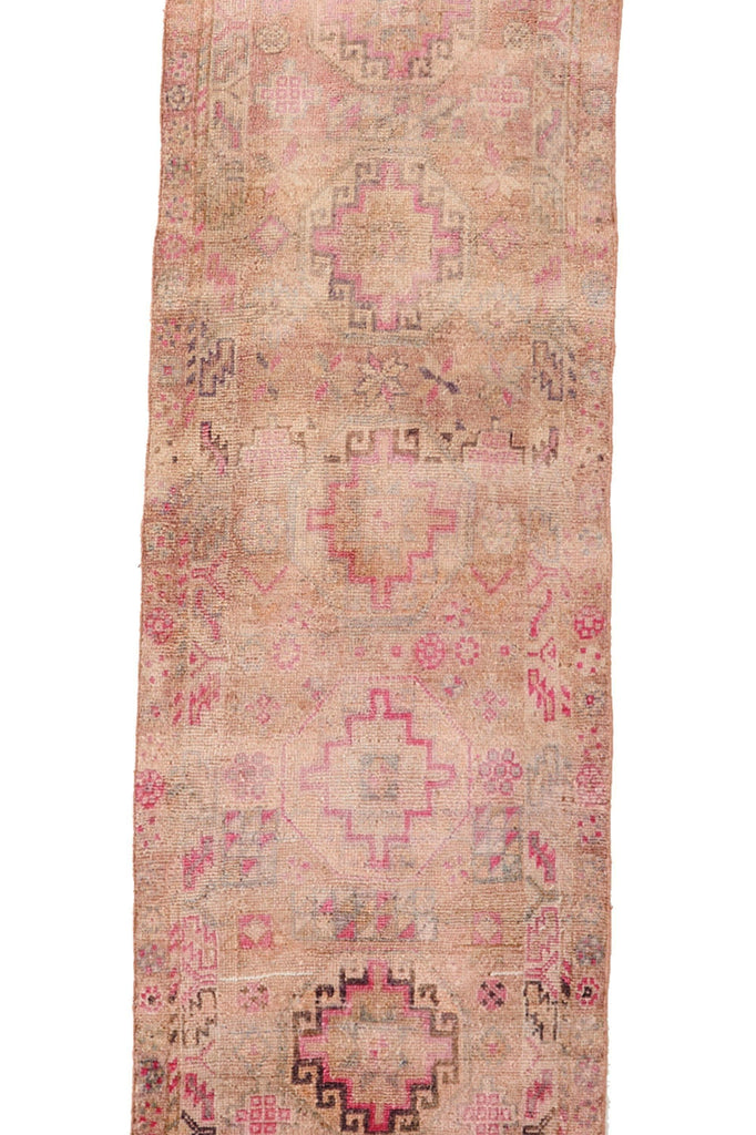 "'Ariel' Turkish Vintage Runner - 2'8"" x 13'4"" - Canary Lane - Curated Textiles"