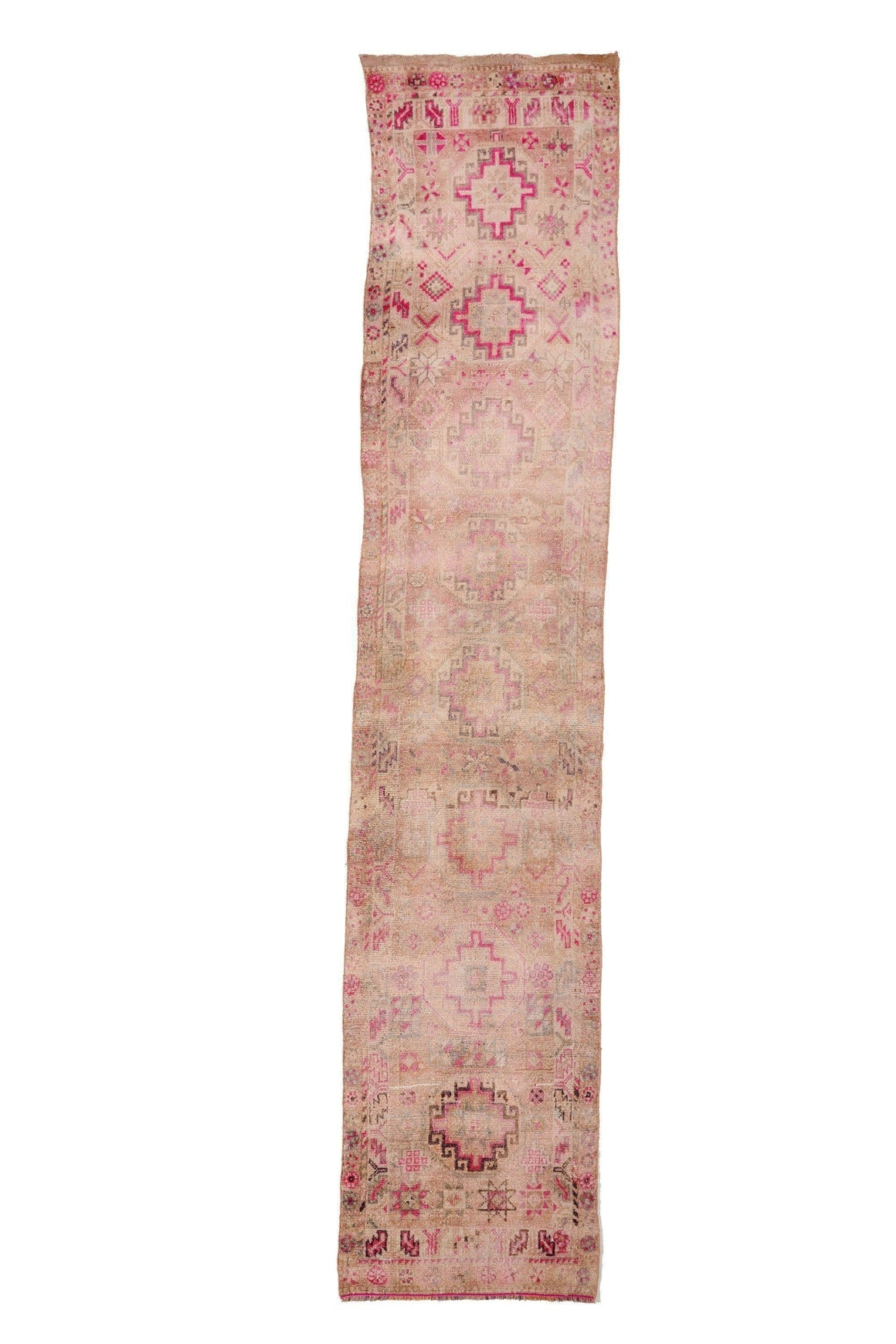 "'Ariel' Turkish Vintage Runner - 2'8"" x 13'4"" *On Hold* - Canary Lane - Curated Textiles"
