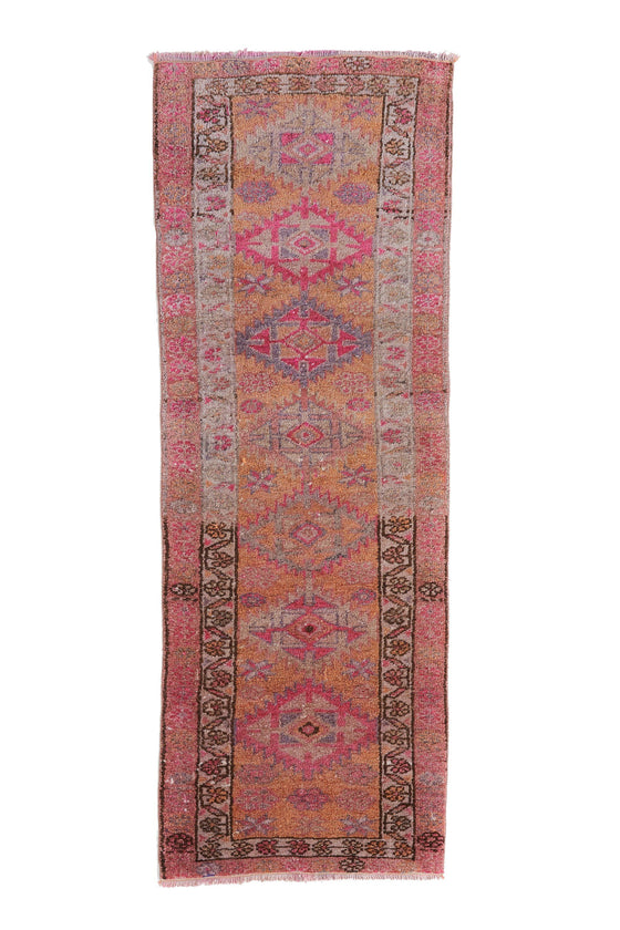 "'Grace' Turkish Vintage Petite Runner - 2'9"" x 7'8"" - Canary Lane - Curated Textiles"
