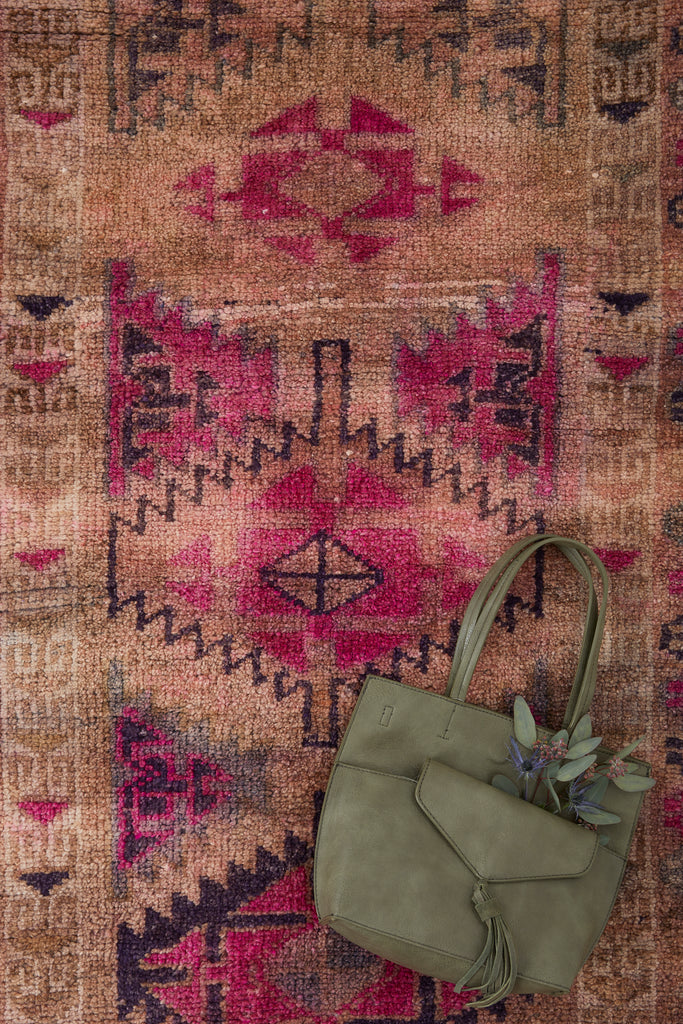 'Plum' Turkish Ombré Runner Rug - 2'10'' x 13'2''