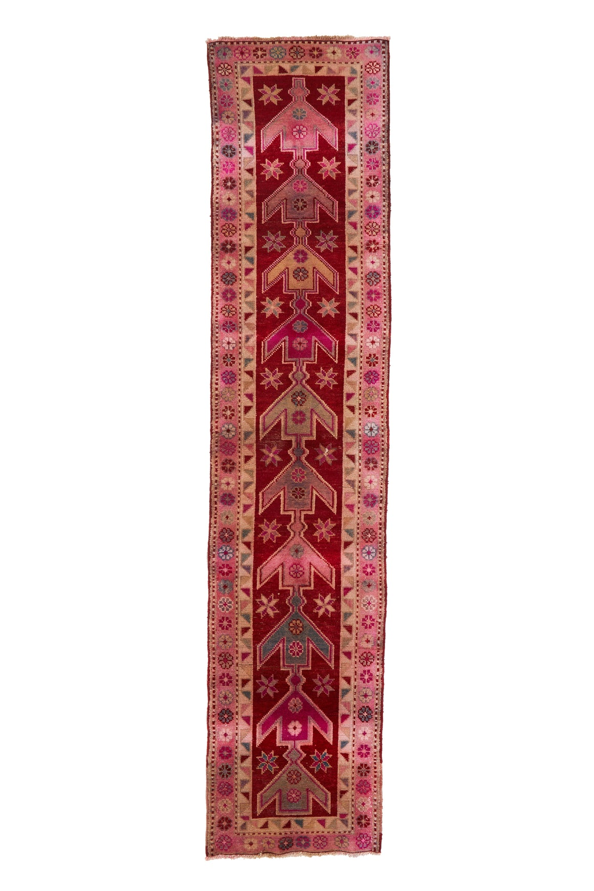 "'Violette' Turkish Runner Rug - 2'9"" x 12'5'' - Canary Lane - Curated Textiles"