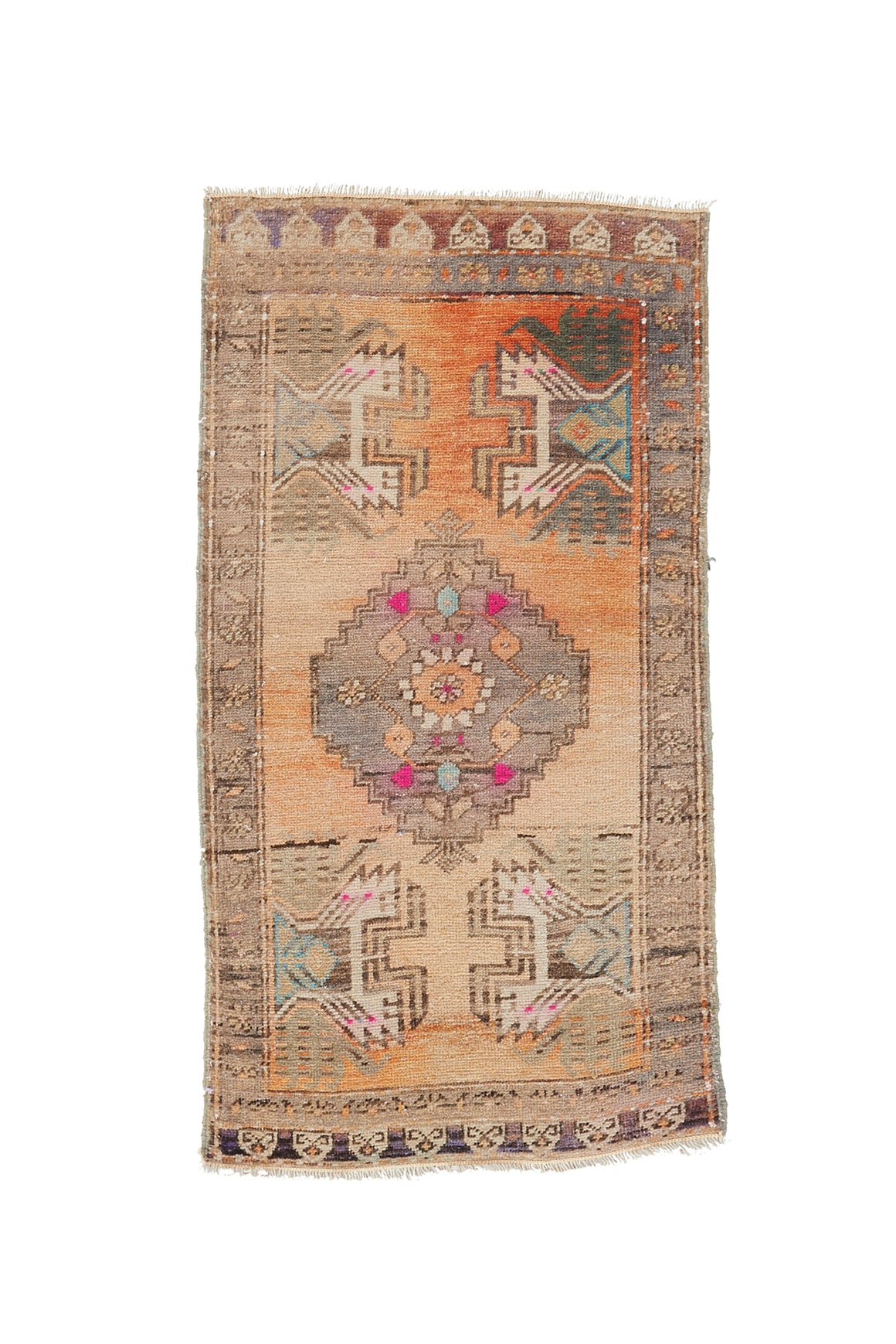 "No. 915 Mini Rug - 1'8"" x 3'2"" - Canary Lane - Curated Textiles"
