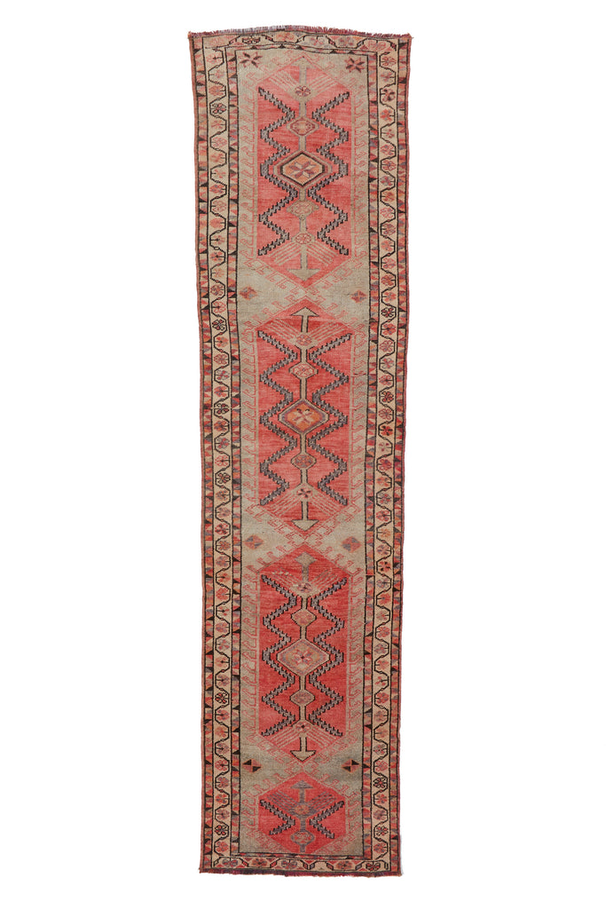 'Willow' Turkish Runner Rug - 2'10'' x 11'5'' - Canary Lane - Curated Textiles