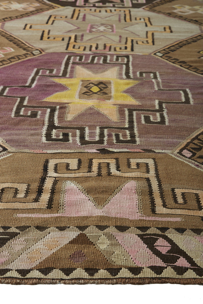 "Beverly Large Rare Vintage Kilim - 6'5"" x 12'6"" - Canary Lane - Curated Textiles"