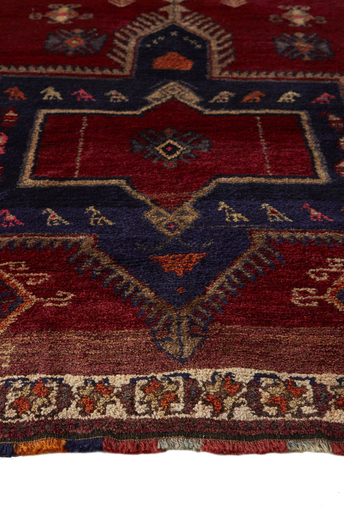 'Tulip' Turkish Oversized Vintage Rug- 4'4'' x 11'7'' - Canary Lane - Curated Textiles