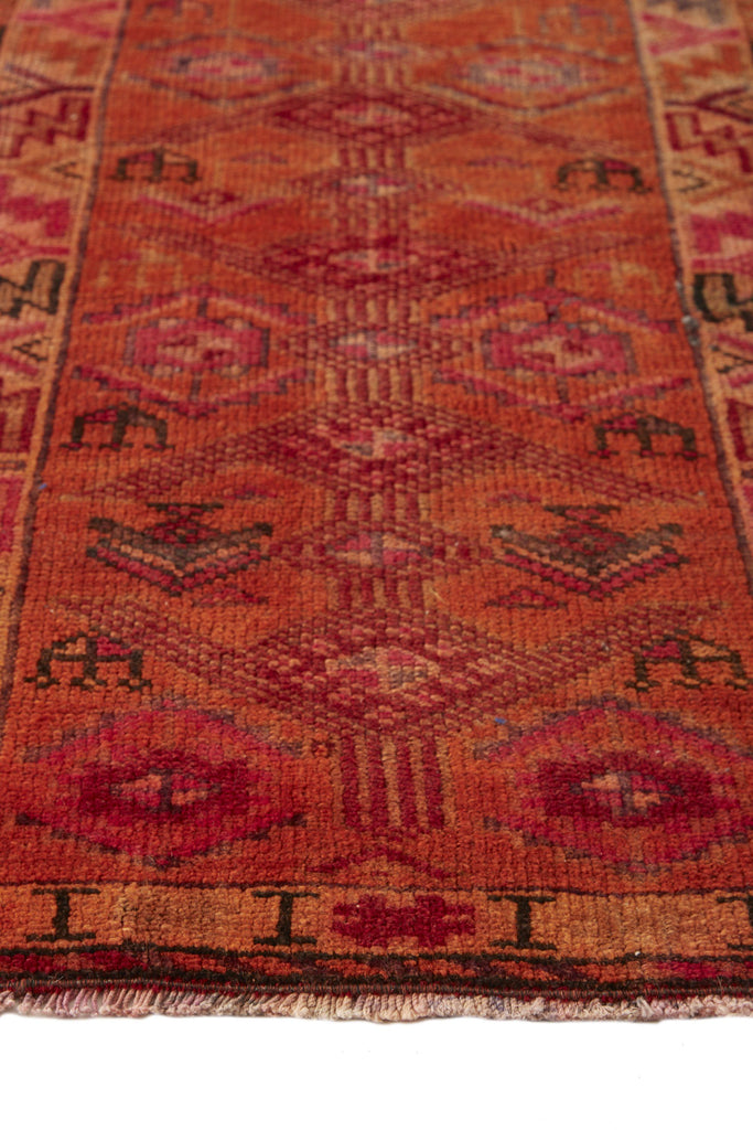 'Alice' Turkish Vintage Narrow Runner - 2' x 11'6'' - Canary Lane - Curated Textiles