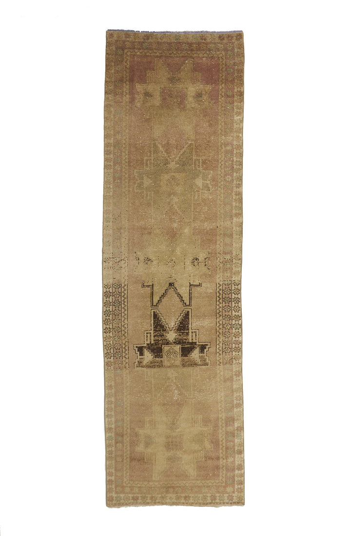 'Desert Sand' Turkish Runner - 3'7'' x 12'5'' - Canary Lane - Curated Textiles