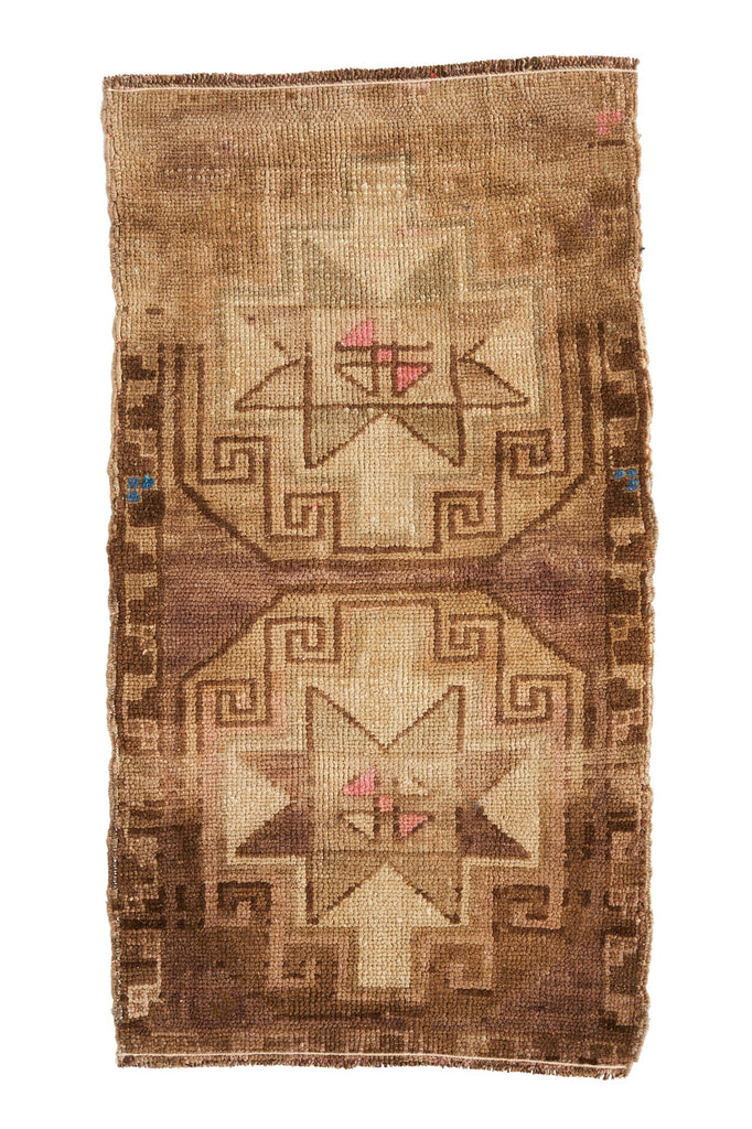 No. 400 Vintage Mini Rug - 1'7.5'' x 3' - Canary Lane - Curated Textiles