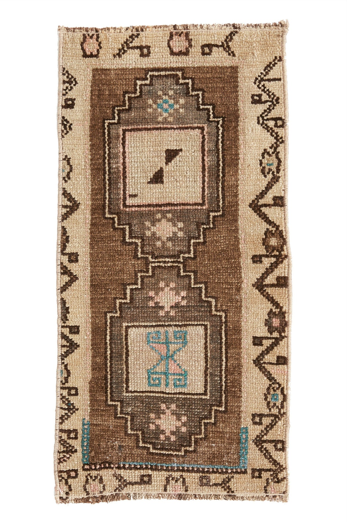 No. 404 Petite Vintage Rug - 1'3.5'' x 2'2'' - Canary Lane - Curated Textiles
