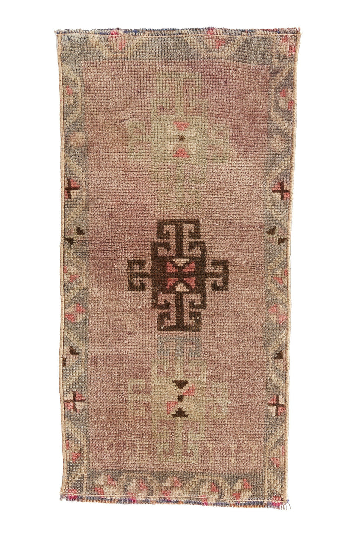 No. 405 Mini Rug - 1'3'' x 2'7'' - Canary Lane - Curated Textiles