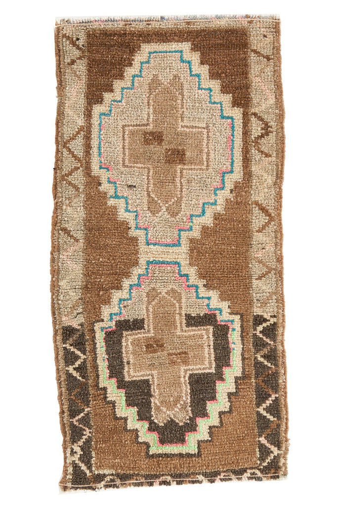No. 406 Mini Rug - 1'5.5'' x 2'11.5'' - Canary Lane - Curated Textiles