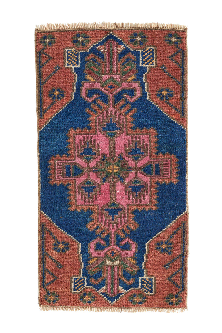 No. 418 Petite Vintage Rug - 1'4.5'' x 2'7.5'' - Canary Lane - Curated Textiles