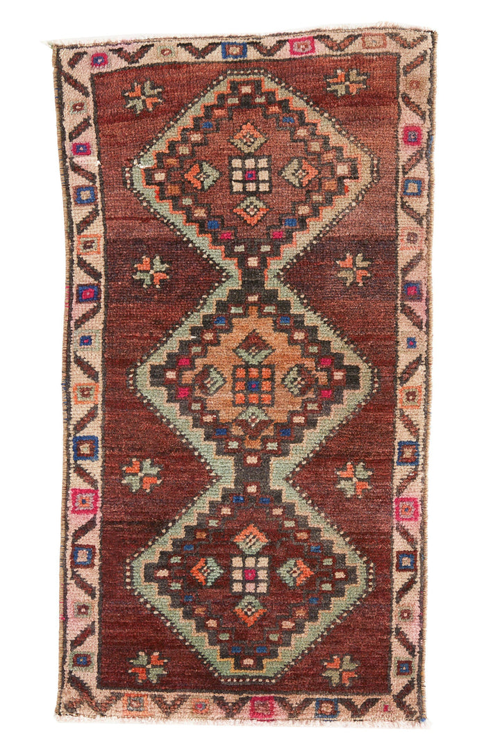 No. 472 Vintage Petite Rug - 1'4.5'' x 2'6.5'' - Canary Lane - Curated Textiles