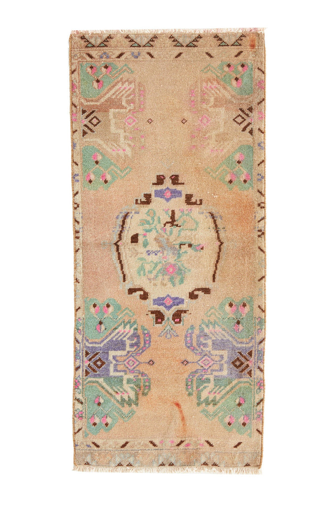 No. 475 Vintage Petite Rug - 1'7'' x 3'7'' - Canary Lane - Curated Textiles