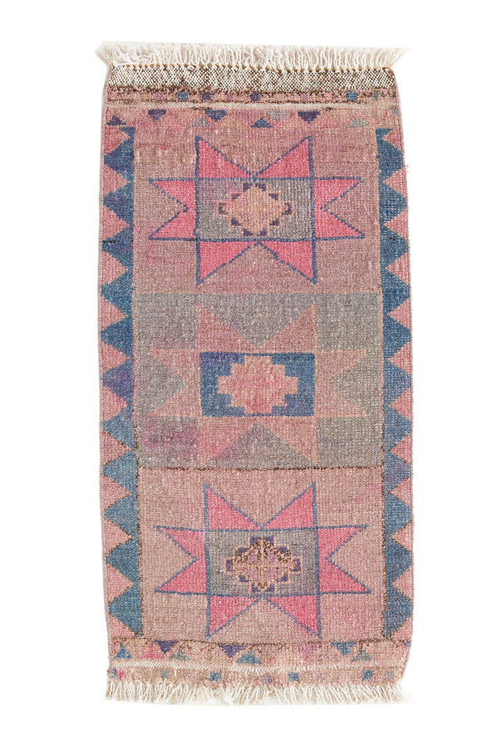 No. 478 Mini Vintage Rug - 1'5'' x 2'11'' - Canary Lane - Curated Textiles