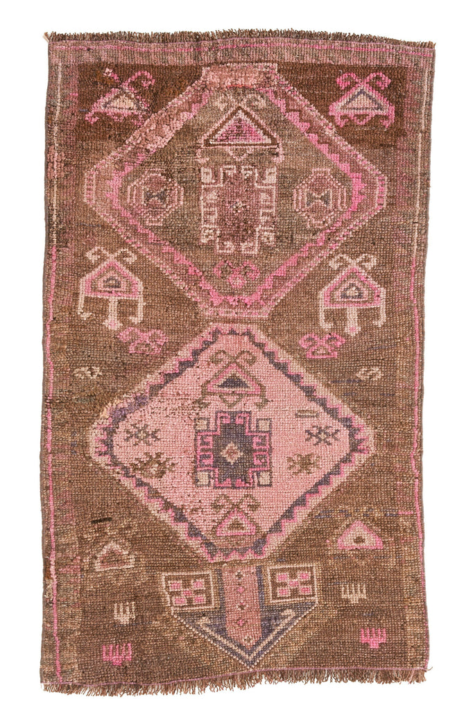 'Kit' - Small Vintage Turkish Rug - 2'4'' x 4' - Canary Lane - Curated Textiles