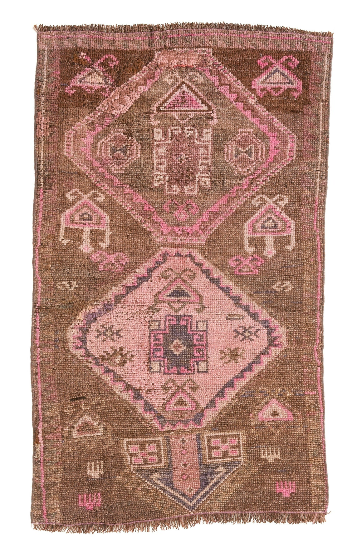 'AC-0818-512' - Small Vintage Turkish Rug - 2'4'' x 4' - Canary Lane - Curated Textiles