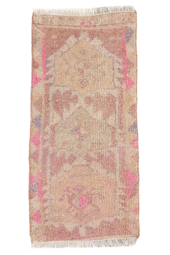 No. 513 Vintage Petite Rug - 1'4'' x 2'11'' - Canary Lane - Curated Textiles