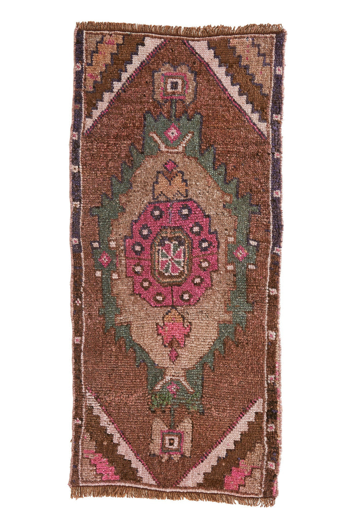 No. 515 Petite Vintage Rug - 1'6'' x 3'4'' - Canary Lane - Curated Textiles