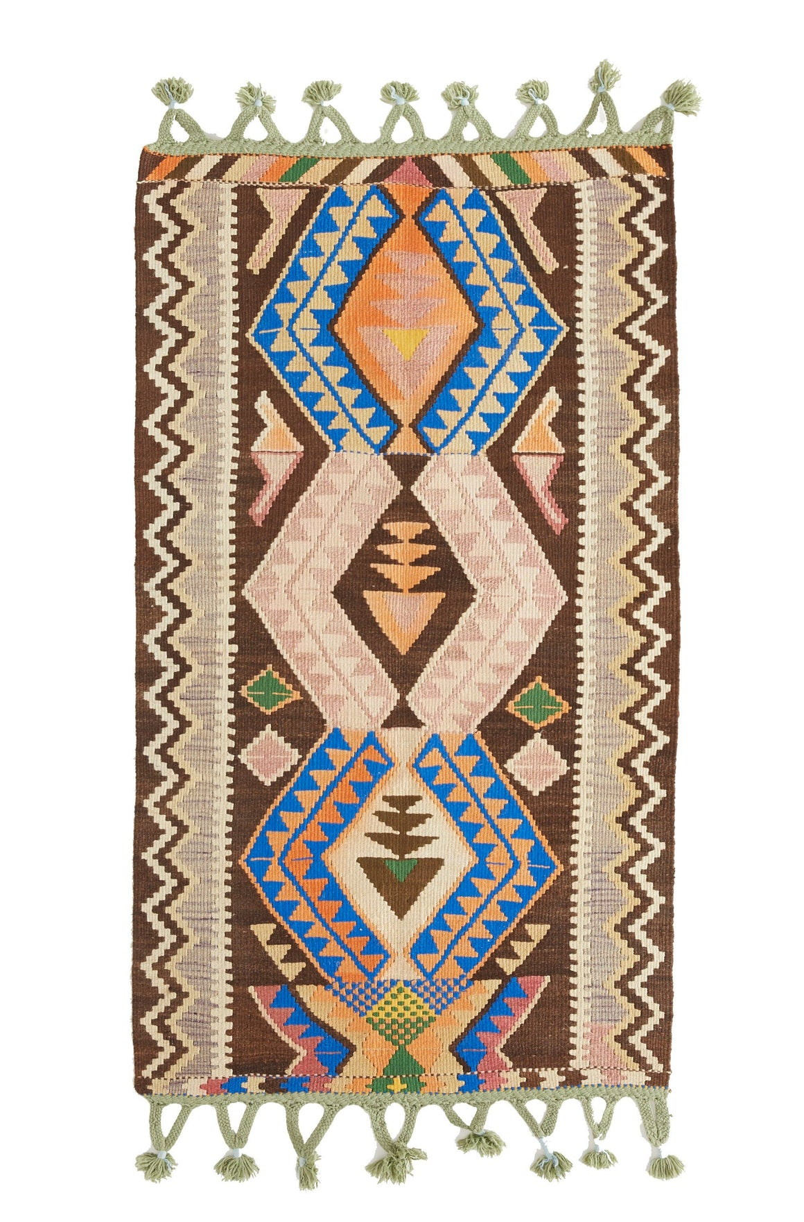 "'Delilah' - Small Turkish Vintage Kilim Rug - 2'6"" x 5'1"" - Canary Lane - Curated Textiles"
